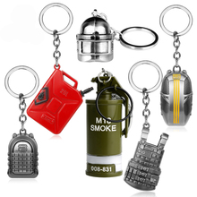 Online PUBG Keychain Playerunknowns Battlegrounds Body Armor 3D Helmet Fuel Tank fire extinguisher Pendant Keyring Car Key Chain