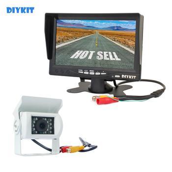 DIYKIT Quality HD 7 inch TFT LCD Display Rear View Car Monitor + Waterproof IR CCD Night Vision Rear View Car Camera White