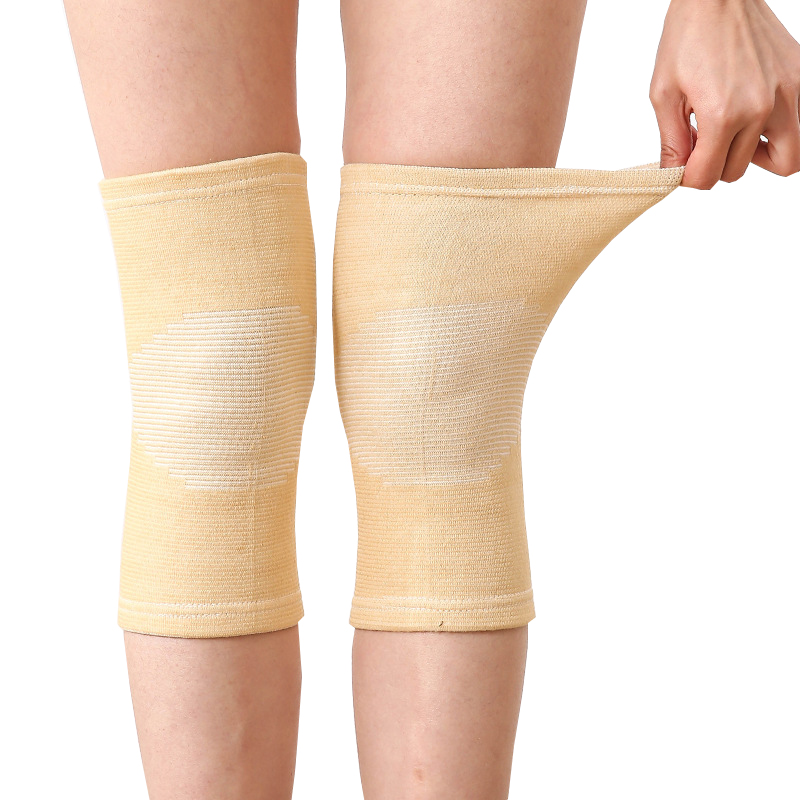 Hot 1 Pcs Knee Warm Support Brace Leg Arthritis Injury Gym Sleeve Elasticated Bandage Knee Pad Charcoal Knitted Elbow KneePad