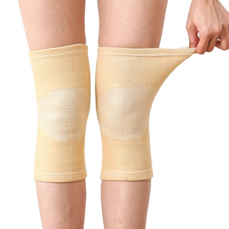 Hot 1 Pcs Knee Warm Support Brace Leg Arthritis Injury Gym Sleeve Elasticated Bandage Knee Pad Charcoal Knitted Elbow KneePad
