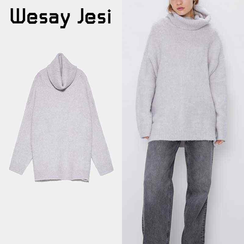 2019 패션 여성 스웨터 니트 터틀넥 풀오버 여성 풀 슬리브 가을 겨울 따뜻한 streetwear 세련된 풀오버 femme