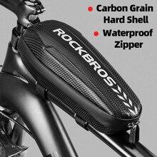 ROCKBROS kolarstwo rower górna przednia rurka torba wodoodporna torebka na ramę duża pojemność rower MTB Pannier Case akcesoria rowerowe