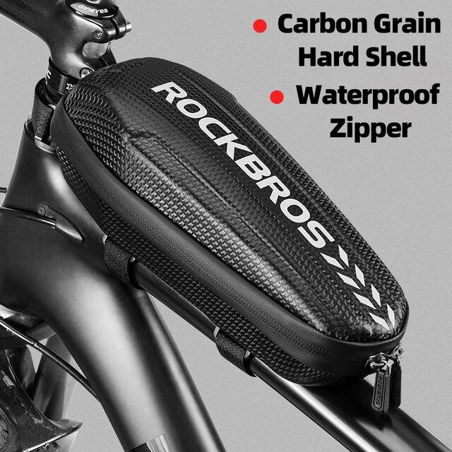 Rockbrosサイクリングバイク自転車トップフロントチューブバッグ防水フレームバッグ大容量mtb自転車パニエケースバイクアクセサリー