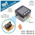 M5Stack IIoT двойной переключатель с ESP32 ядром Беспроводное управление IoT узел питания постоянного тока в настраиваемом промышленном переключат...