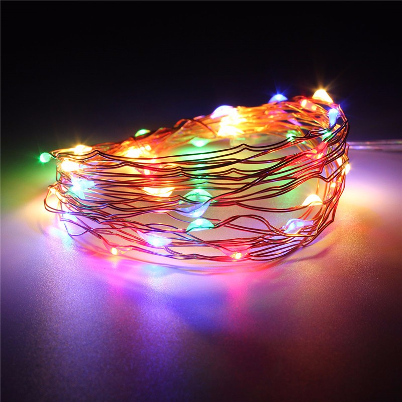300CM Multicolor Copper Wire Mini LED String Lights Battery Operated LED Fairy Holiday Light For Christmas Weeding Party Decor