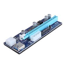 Yeni Molex 6 pin PCI Express PCIE PCI-E yükseltici kart 008C 1X to 16X genişletici 60cm USB3.0 kablo madenciliği bitcoin madenci
