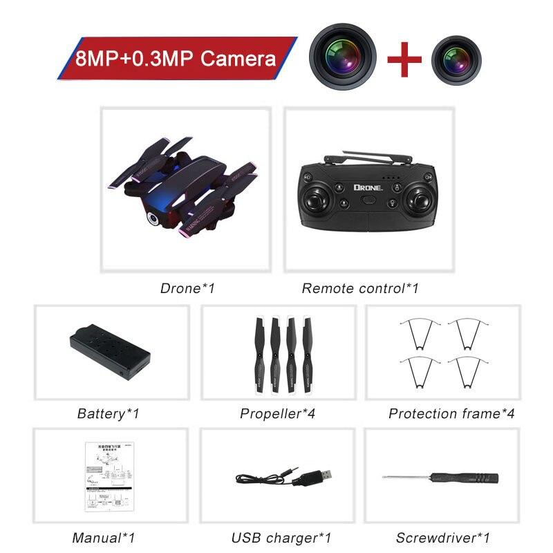 FPV WIFI 720P/1080P Camera Drone Rc Quadcopter 720P/1080P Camera Foldable Quadrocopter Mini Dron Helicopter Kids for Children