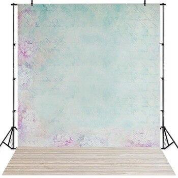 NeoBack paño de vinilo fondo fotográfico para recién nacido pared Floral piso de madera foto telón de fondo foto de niños estudio telón de fondo P2427