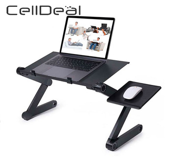 Adjustable Aluminum Laptop Desk Ergonomic Computer Portable TV Bed Lapdesk Tray PC Table Stand Notebook - discount item  40% OFF Office Furniture