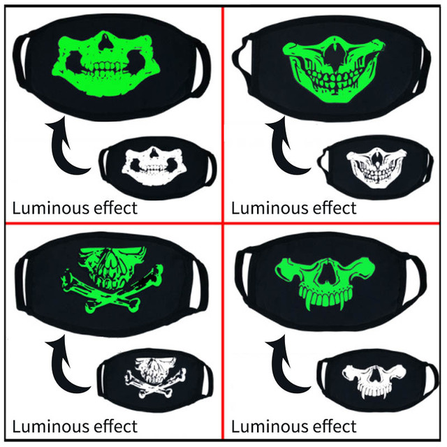 Anti Dust Flu Bacteria Windproof Cartoon Cotton Mouth Mask Respirato Luminous Disfraces Carnaval Party Supplies Cosplay Masks 5