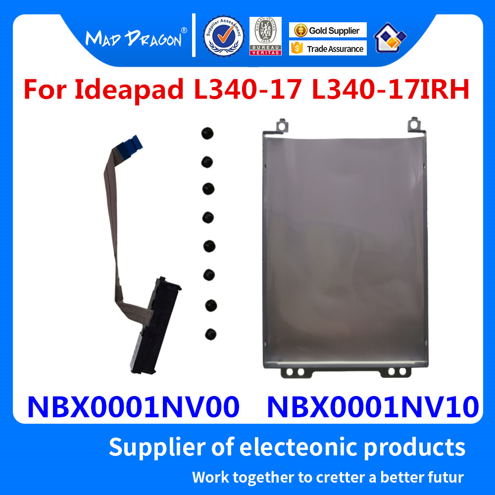 Новый жесткий диск HDD Caddy Кронштейн Лоток + SSD HDD кабель для Lenovo Ideapad L340-17 L340-17IRH 17API NBX0001NV00 NBX0001NV10