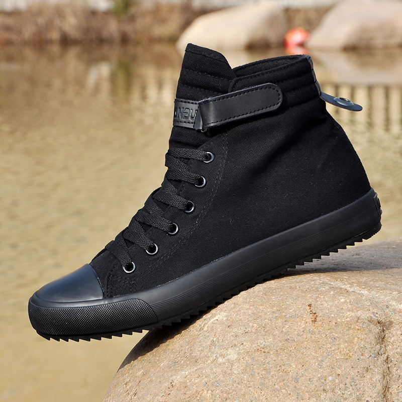 Men's Shoes Sports-Sneakers Autumn High-Canvas Korean-Cloth College Wild-Students Solid-Color