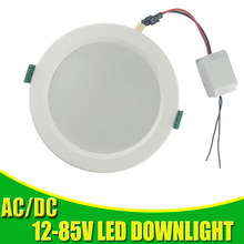 Led Panel Light Led Ceiling Downlight 12v 24v 36v 48v Recessed Round Lamp 18w 15w 12w 9w Led Lights For Home Kitchen Spot Light(China)