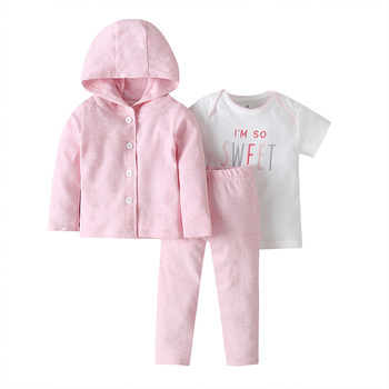 baby girl clothes long sleeve hooded jacket+floral bodysuit+pant 2020 fashion newborn outfit fall infant clothing set zipper 6