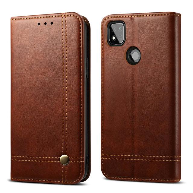 Redmi 9C Flip Case Red Mi 9 A C C9 Phone Cover 360 Protect Leather Shell for Xiaomi Redmi 9C Case Luxury Wallet Funda Redmi 9A