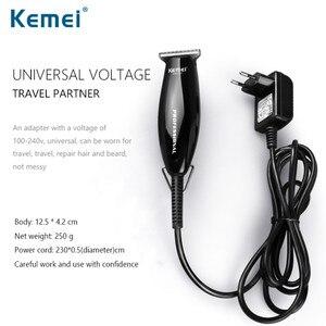Image 4 - Kemei充電式バリカントリマー電気スリックバックプロのヘアトリマーかみそり毛切断機 40D