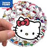 TAKARA TOMY 100 cute cartoon Hello Kitty stickers luggage stickers notebook stickers waterproof stickers