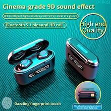 Tws sem fio bluetooth fone de ouvido 3500mah caixa carregamento sem fio 9d estéreo à prova dwaterproof água fones com microfone