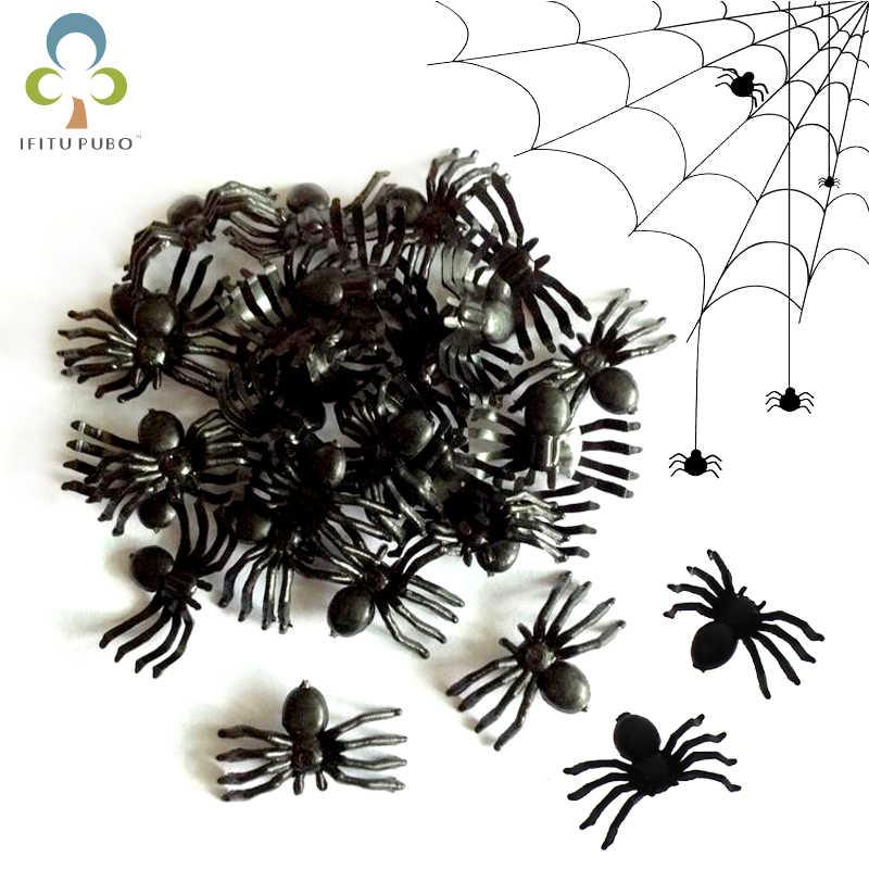 Plastik Laba-laba Palsu Lelucon Praktis Alat Peraga Realistis Spider untuk Prank Halloween Dekorasi Pesta Festival Supplies Gyh