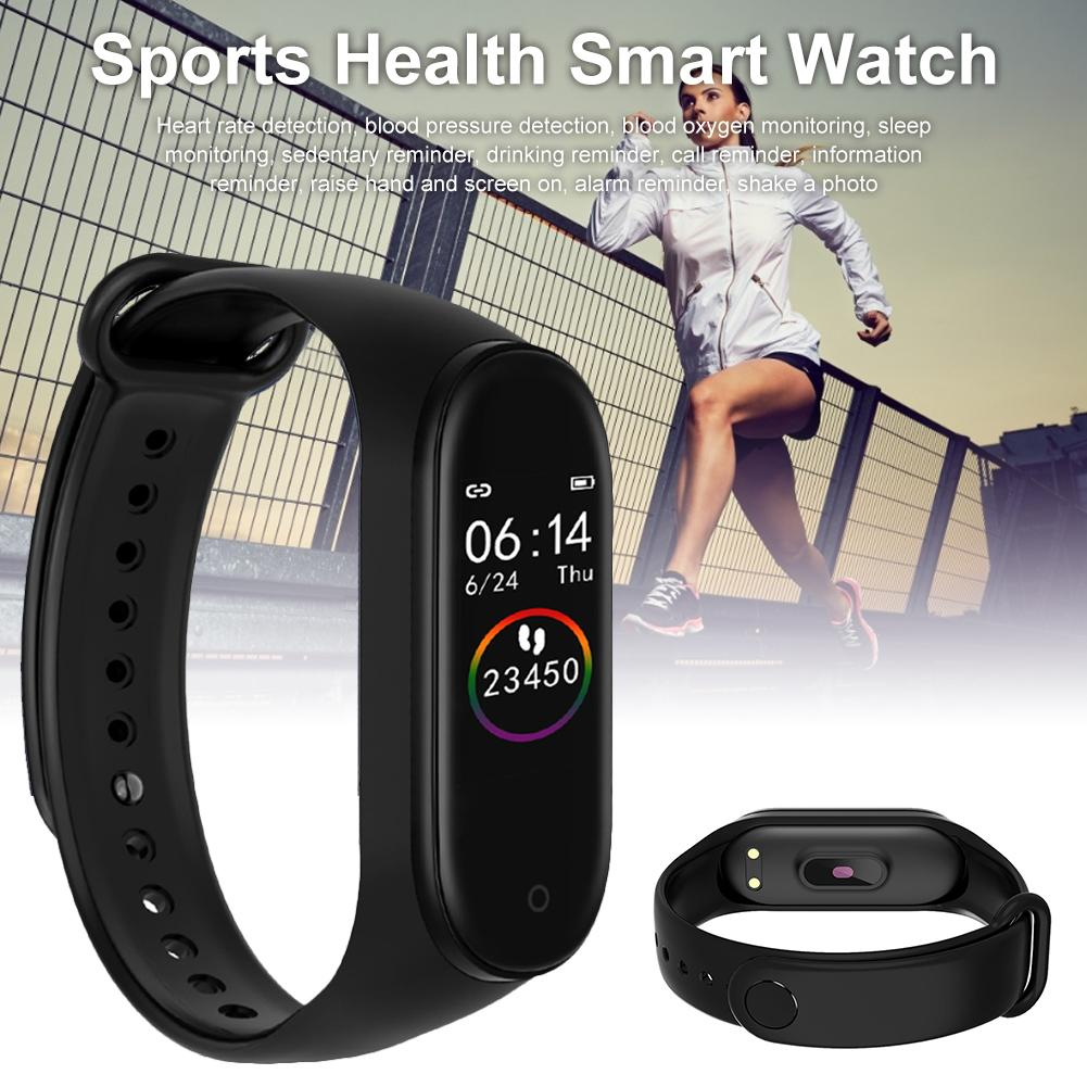 Sport Smart Band Pedometer Bracelet M4 Smart Bracelet Mi band 4 Smartband Fitness Tracker Bluetooth Watch For Men Women