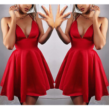 Deep V-Neck Women Sexy Dress Hollow-out Ladies Sling Open Back Party Club Mini Short Bodycon Summer XS-XL D30
