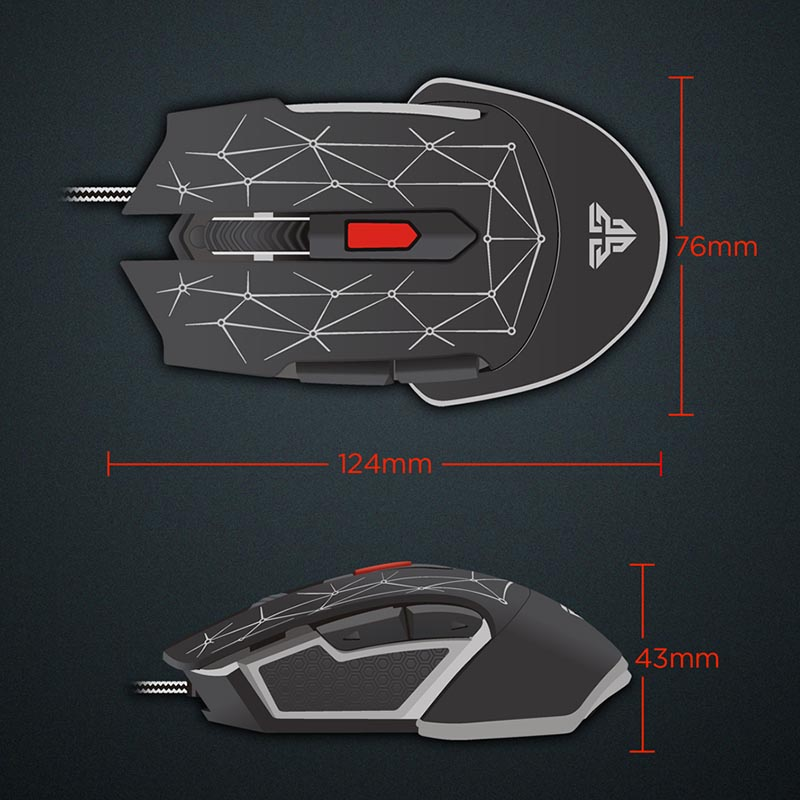 Gaming Mouse Wired Durable RGB Lights 6D Anti-slip 1.8M Long Lasting For Computer GV99