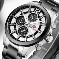 Mens Watches Fashion Luxury Brand MINI FOCUE Casual Business Qusrtz Watch Stainless Steel Chronograph Military Sport Wrist watch