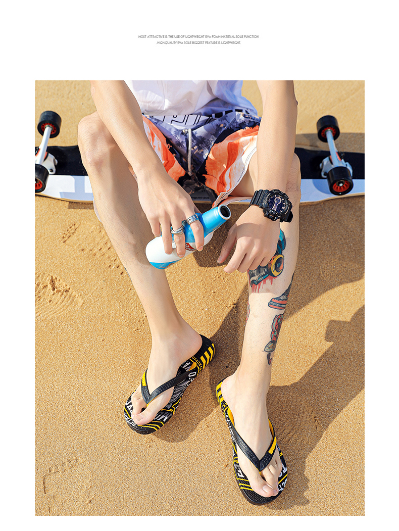 H7b67cef258314417942217880b655b06C - VESONAL Summer Graffiti Print Slippers Men Shoes Flip Flops Slipers Male Hip Hop Street Beach Slipers Casual Flip-flops