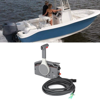 Outboard Side Mount Remote Control Box Outboard Motor Side Mount for Evinrude 703 Yamaha Push Throttle 10 Pin Cable 16' Right Ha