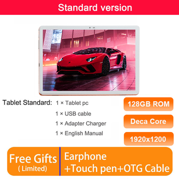 Global Version 4G Tablet PC MT6797 Deca Core 6GB RAM 128GB ROM 13.0MP 8000mAh Battery 10 Cores Tablets 10.6 IPS 1920*1200 Screen 10