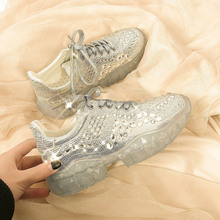 New 2019 Spring Autumn Woman Sports Shoes Fashion Rhinestone