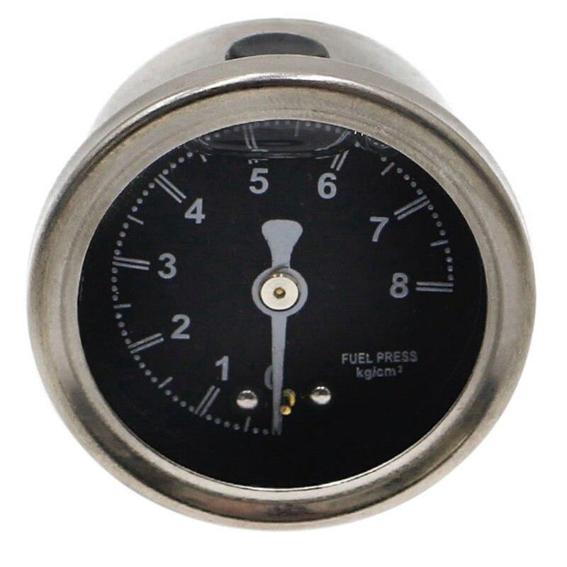 CNSPEED Aluminum Silver Fuel Pressure Regulator Black Face Color Meter with 1/8 NPT Indicator Control Oil Car Meter