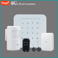 WIFI GSM 3G 4G home Security smart Alarm System Burglar optional kit Tuya APP Control Arm Disarm Can Works with Alexa