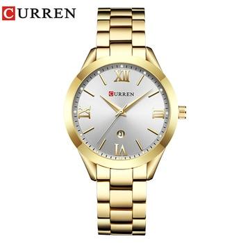 CURREN Gold Watch Women Watches Ladies 9007 Steel Women's Bracelet Watches Female Clock Relogio Feminino Montre Femme 10