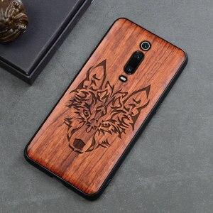 Image 4 - Чехол для Xiaomi mi 9t Boogic Wood funda Redmi k20 Pro Rosewood, ударопрочный ТПУ чехол накладка для телефона Xiaomi Mi 9T Pro, чехол