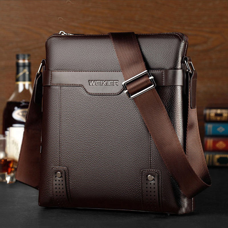 Pu leather men bag 2020 new simple fashion crossbody bag male zipper solid color business shoulder bag men small briefcase