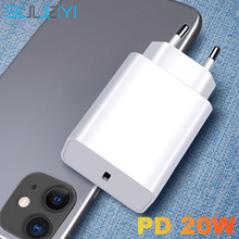 Type C USB PD 20W EU US Plug Fast Charging Portable Adapter For iPhone 12 11 Pro Max 8 Huawei Xiaomi Samsung Phone Charger