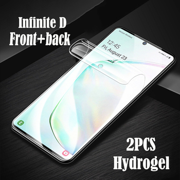 InfiniteD Screen Protector soft Film Protective Hydrogel For Samsung S20 ultra S10 E S9 S8 plus S7 Screen Guard Gel Full Cover 3pcs protective flim screen protector ultra thin clear lcd guard shield cover skin for samsung galaxy fit fit e bracelet tools