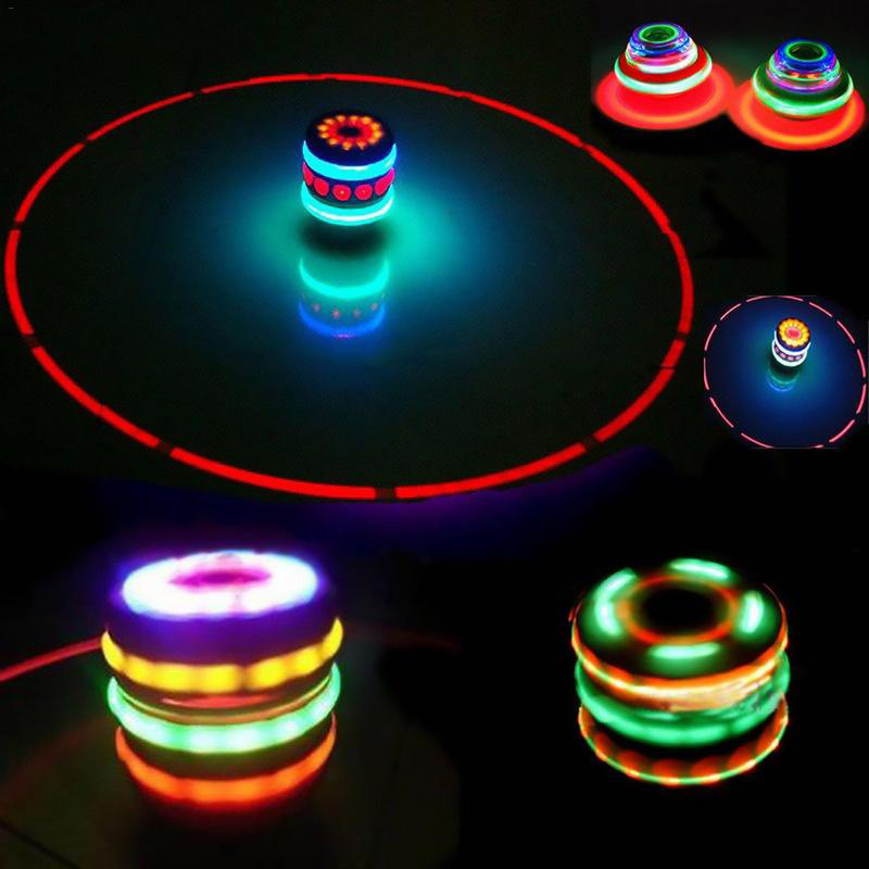 Classic UFO Gyro Peg-Top Spinning Top Brinquedo Funny Kids Toy Laser Color Flash LED Light Kids New Year's gift Toys(China)