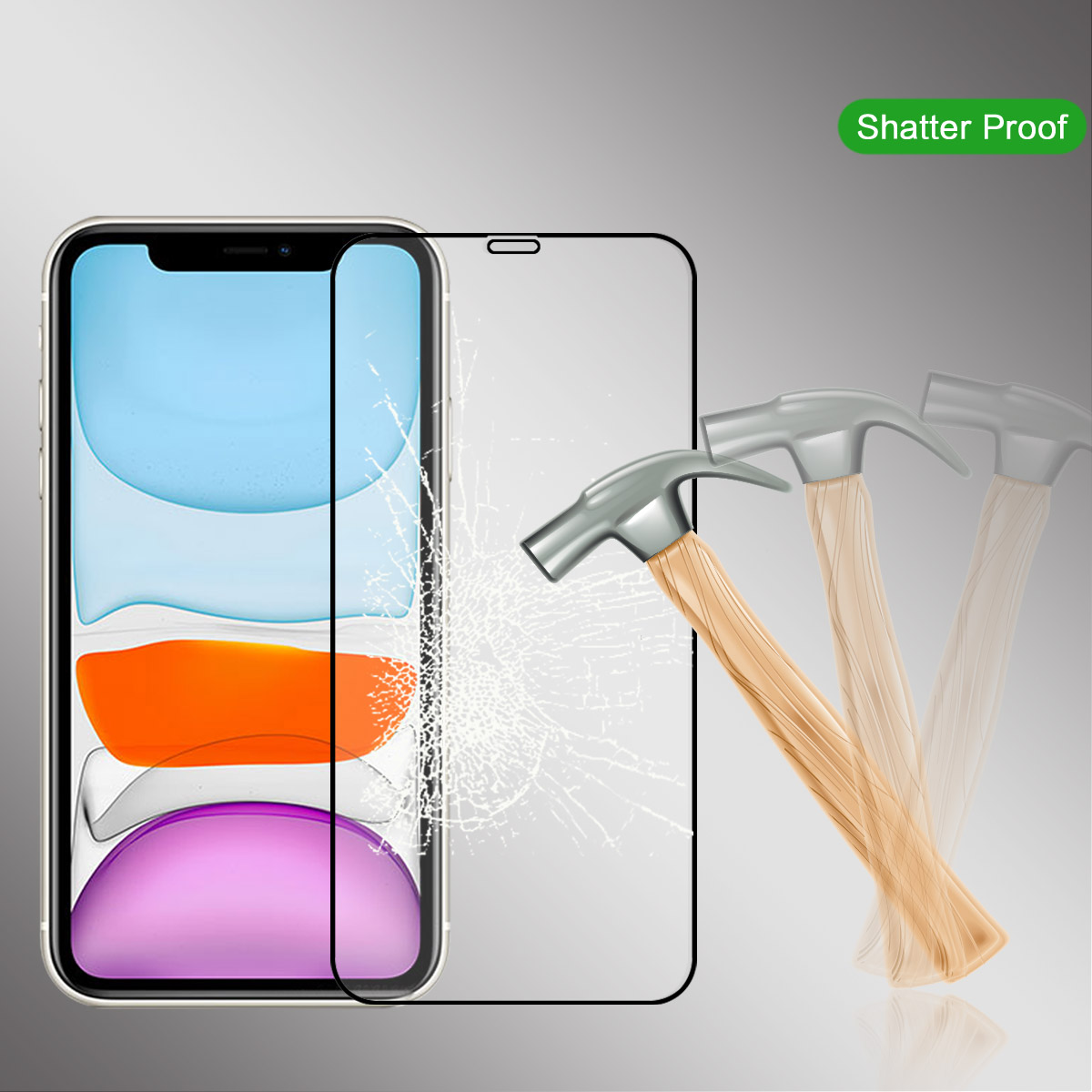 For IPhone 11 11 Pro 11 Pro Max Tempered Glass Full Cover Anti-Scratch Screen Protector For IPhone 11 Protective Film Shockproof