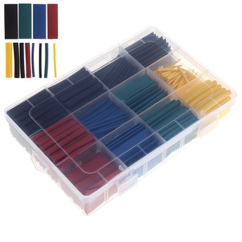 цена на 530pcs/set Heat Shrink Tubing Insulation Shrinkable Tube Assortment Electronic Polyolefin Ratio 2:1 Wrap Wire Cable Sleeve Kit