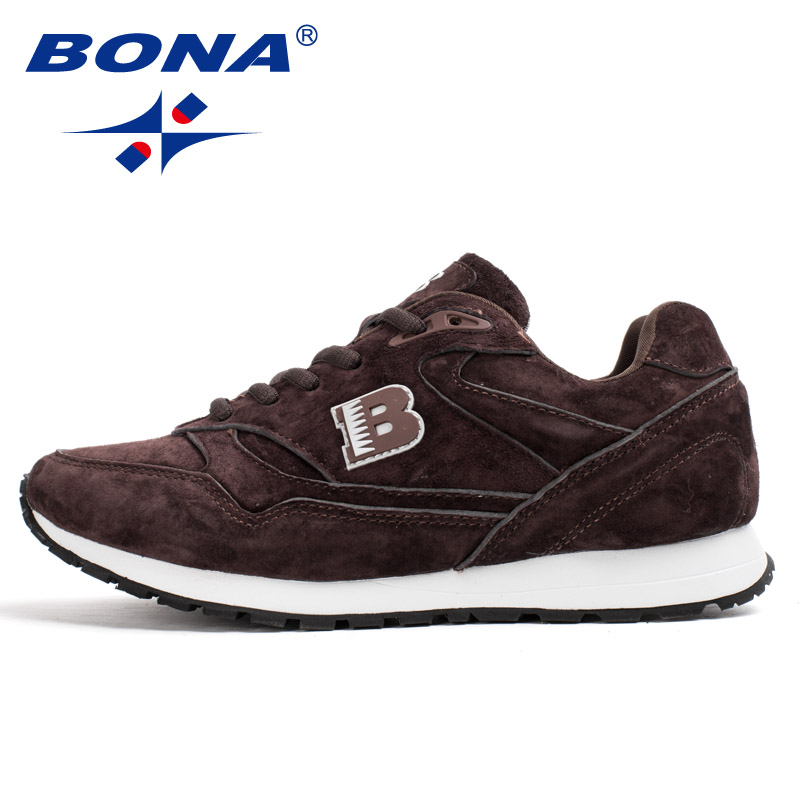BONA 2020 New Arrival Suede Leather Men Casual Shoes Fashion Flat Shoes Man Lace Up Loafers Shoes Male Outdoor Sneakers Trendy