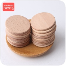 Mamihome 1000pc 37mm Baby Wooden Blank Teether Discs Beech Coins BPA Free DIY Pacifier Pendant ChildrenS Goods Chew Chip