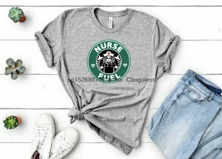 Новинка! Детские футболки для медсестер фьюел кофе RN LPN, разные цвета