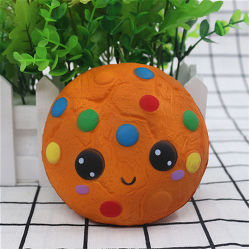 Squishy Toys Squeeze Rising Small Soft Kawaii Simulation Round Cookies Toy Stress Relief Gifts House Decoration For Children