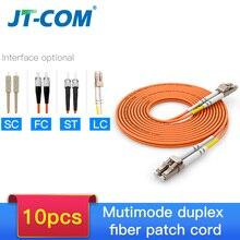 10Pcs 1Gb OM2 LC LCสายไฟเบอร์Multimode Duplex 2.0 3.0MmFiberออปติกLC FC LC SC LC ST Multimode simplexสายไฟเบอร์