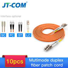 10pcs 1Gb OM2 LC LC Fiber Cable Multimode Duplex 2.0 3.0mmFiber Optic Patch Cord LC FC LC SC LC ST Multimode Simplex Fiber Cable