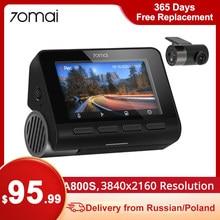 70mai A800 4K Dash Cam 4K Resolução GPS ADAS DVR Dual-Vision 140 FOV
