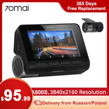 70mai A800 A800S 4K Dash Cam 3840X2160 Resolution 4K Dash Camera Support GPS, Rear Camera Dual Vision, WiFi