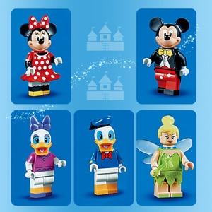 Image 4 - Cinderella Princess Castle Set mickey minnie architecture Building Blocks Bricks Compatible lepinglys 71040 girl Birthday Gifts